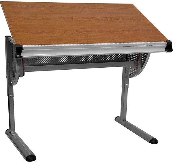 Adjustable Drawing & Drafting Table w/Pewter Frame FLF-NAN-JN-2433-GG
