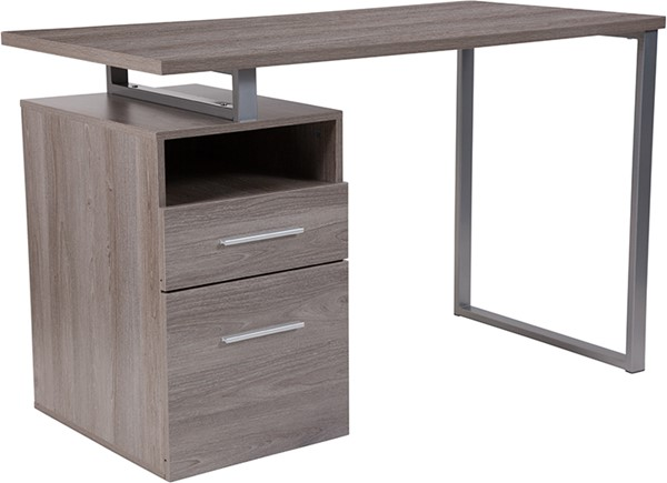 Flash Furniture Harwood 2 Drawer Desk FLF-NAN-JN-2634-GG-OD-VAR