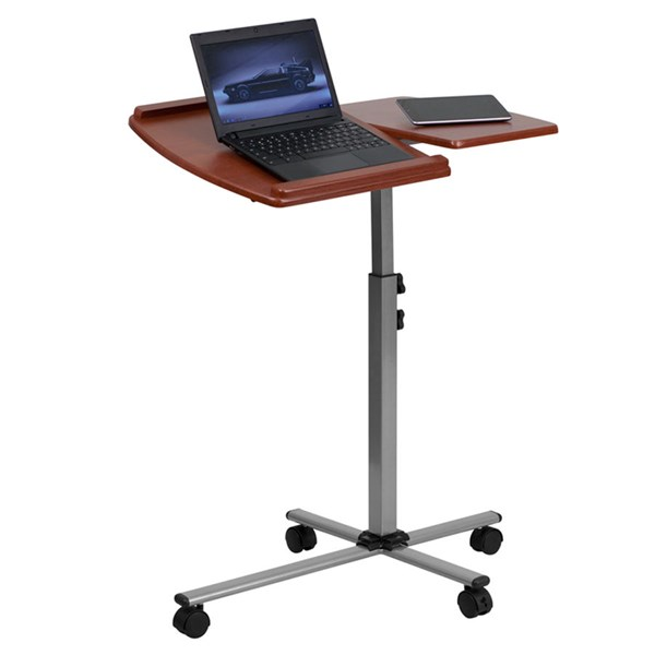 Flash Furniture Cherry Mobile Laptop Computer Table FLF-NAN-JN-2762-GG