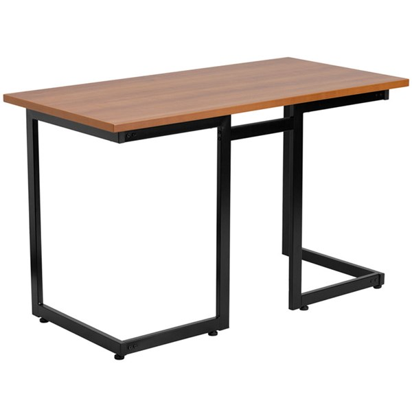 Flash Furniture Cherry Laminate Computer Desk with Black Frame FLF-NAN-JN-2811-GG
