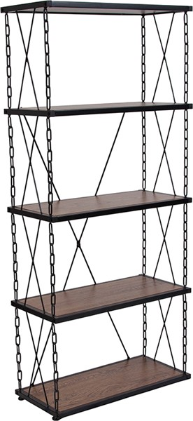 Flash Furniture Vernon Hills Antique 4 Shelf Bookcase FLF-NAN-JN21720B5-GG
