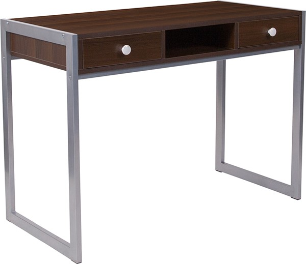 Flash Furniture Bradley Dark Wood Grain Computer Desk FLF-NAN-NJ-HD10165-GG