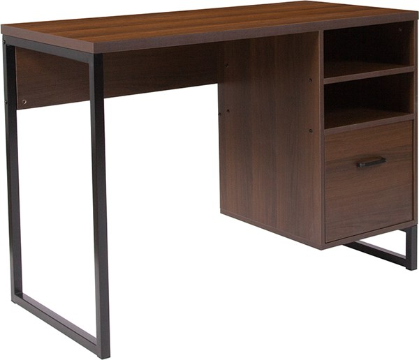 Flash Furniture Northbrook Rustic Coffee Computer Desk FLF-NAN-NJ-HD10168-GG