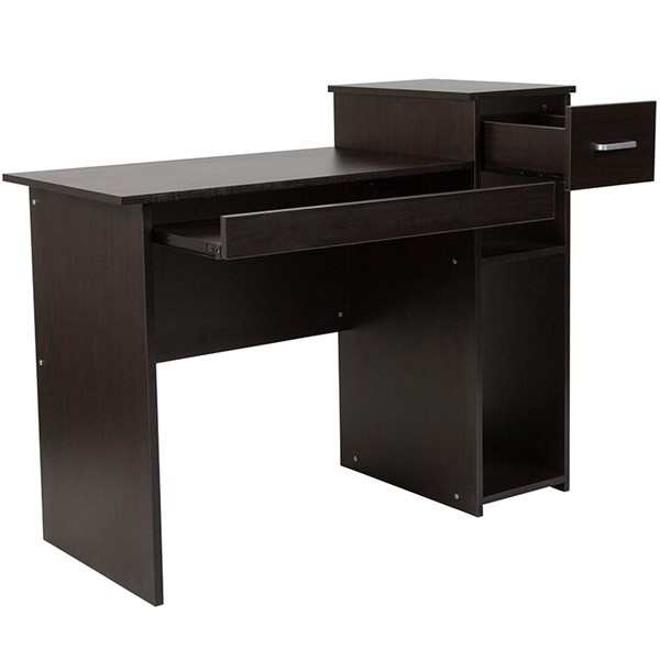 Flash Furniture Highland Park Espresso Desk with Shelves FLF-NAN-NJ-HD3518-B-GG