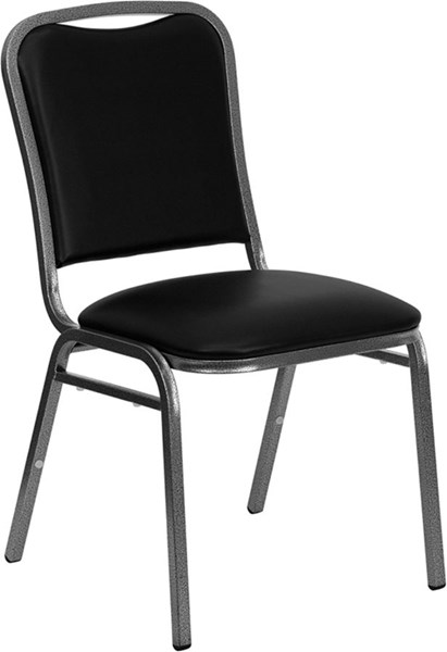 Flash Furniture Hercules Black Vinyl Stacking Banquet Chair FLF-NG-108-SV-BK-VYL-GG