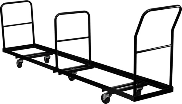 Vertical Storage Folding Chair Dolly - 50 Chair Capacity FLF-NG-DOLLY-309-50-GG