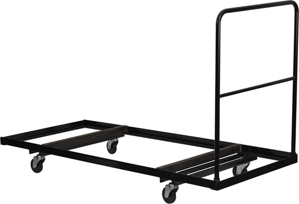 Black Folding Table Dolly For 30 Inch X 72 Inch Folding Tables FLF-NG-DY3072-GG