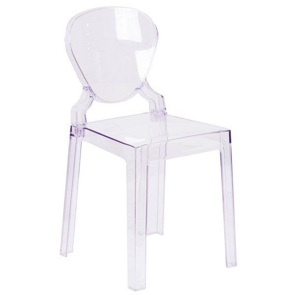 Flash Furniture Ghost Chair with Tear Back In Transparent Crystal FLF-OW-TEARBACK-18-GG
