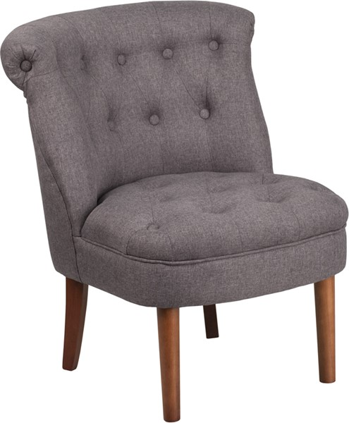 Flash Furniture Hercules Kenley Gray Fabric Tufted Chair FLF-QY-A01-GY-GG