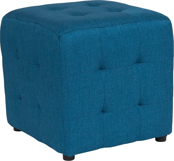 Flash Furniture Avendale Blue Fabric Tufted Ottoman FLF-QY-S02-BLU-GG