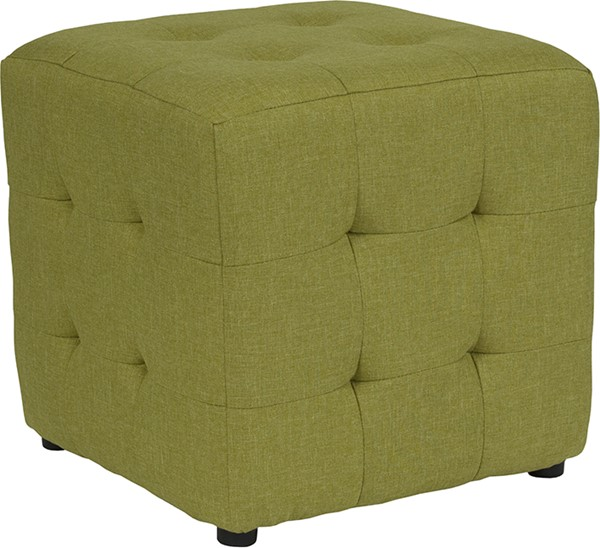 Flash Furniture Avendale Green Fabric Tufted Ottoman FLF-QY-S02-GRN-GG