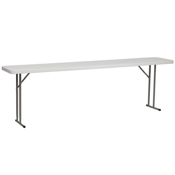 18 W X 96 L Granite White Plastic Folding Training Table FLF-RB-1896-GG