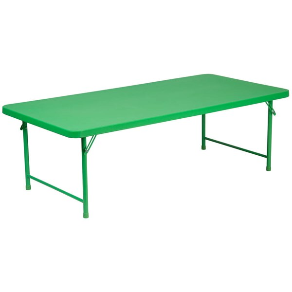 Flash Furniture Kids Green Plastic Rectangle Top Folding Table FLF-RB-3060-KID-GN-GG