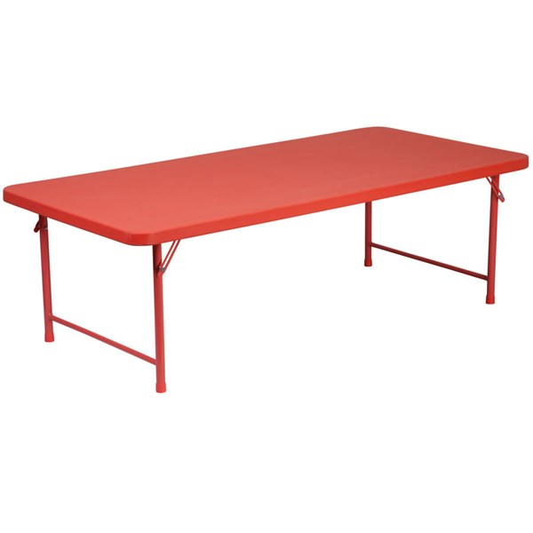 Flash Furniture Kids Red Plastic Rectangle Top Folding Table FLF-RB-3060-KID-RD-GG