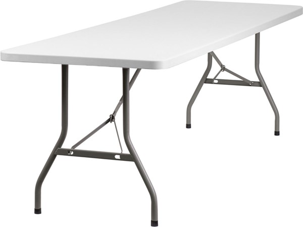 White Gray Metal Plastic Rectangle Folding Table FLF-RB-3096-GG