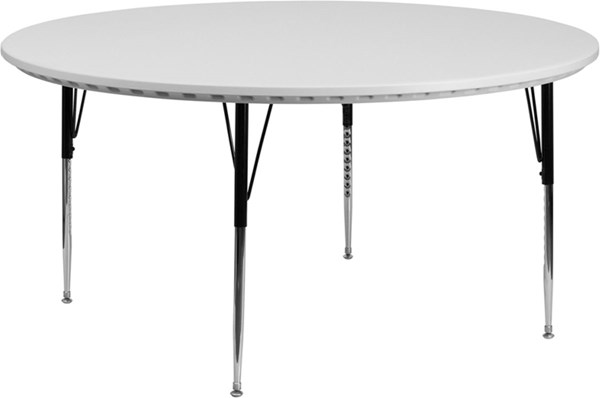 60 Inch Round Adjustable Granite White Blow Molded Activity Table FLF-RB-60R-GRY-A-GG
