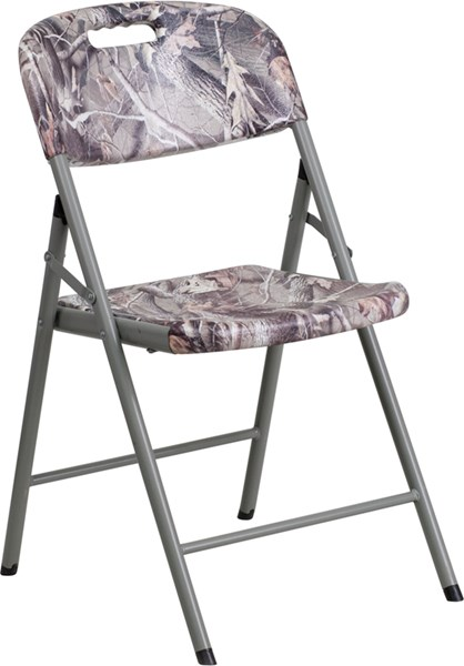 Camouflage Metal Plastic Armless & Solid Back Folding Chair FLF-RB-RBC-06-CAM-GG