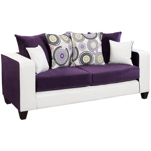 Flash Furniture Riverstone Purple Track Arms Sofa FLF-RS-4120-05S-GG