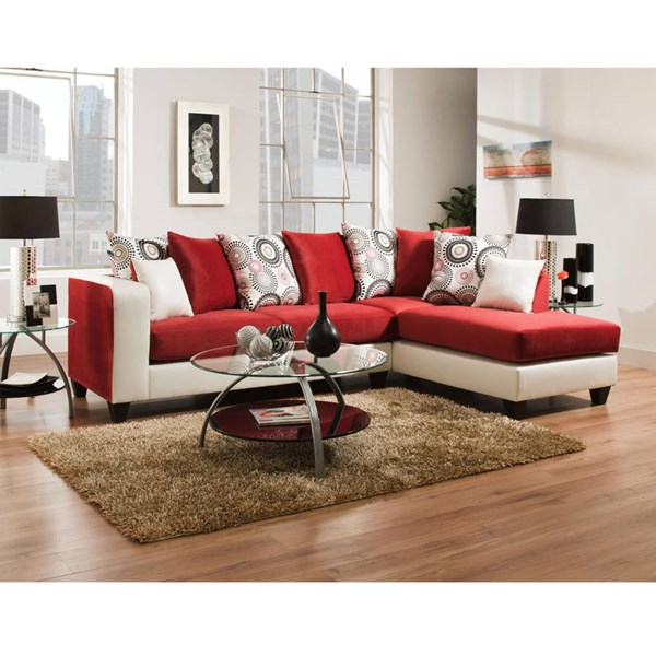 Flash Furniture Riverstone Red 2pc Sectional FLF-RS-4124-10SEC-GG