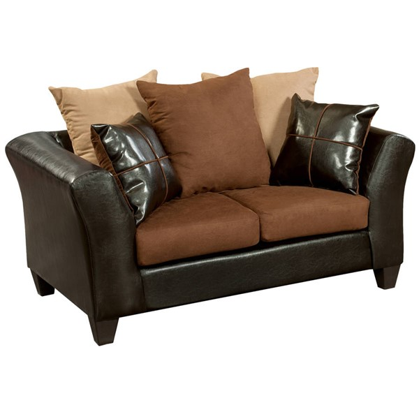 Flash Furniture Riverstone Chocolate Flared Arms Loveseat FLF-RS-4170-01L-GG