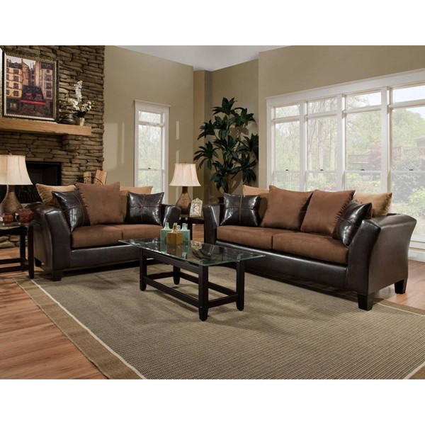 Flash Furniture Riverstone Chocolate 2pc Living Room Set FLF-RS-4170-01LS-SET-GG