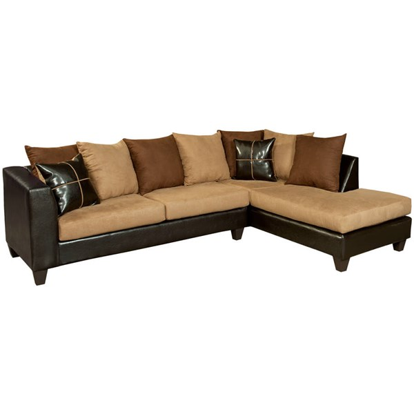 Flash Furniture Riverstone Chocolate Microfiber 2pc Sectional FLF-RS-4184-01SEC-GG