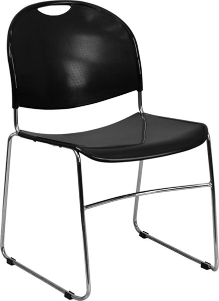 Flash Furniture Hercules High Density Ultra Compact Stack Chair FLF-RUT-188-BK-CHR-GG