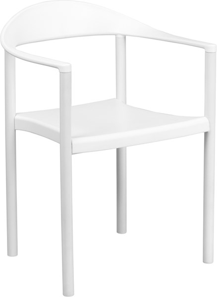 Flash Furniture Hercules White Cafe Stack Chair FLF-RUT-418-WH-GG