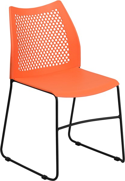 Flash Furniture Hercules Sled Base Stack Chair FLF-RUT-498A-GG-OUT-CH-VAR