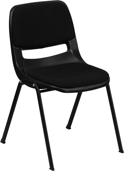 Flash Furniture Hercules Ergonomic Shell Stack Chair FLF-RUT-EO1-01-PAD-GG