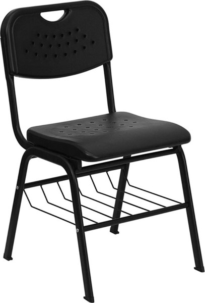 Flash Furniture Hercules Black Plastic Chair FLF-RUT-GK01-BK-BAS-GG