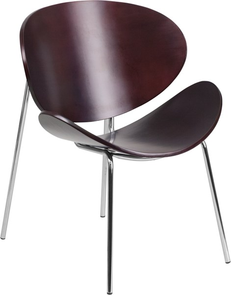 Flash Furniture Mahogany Bentwood Leisure Reception Chair FLF-SD-2268-7-MAH-GG