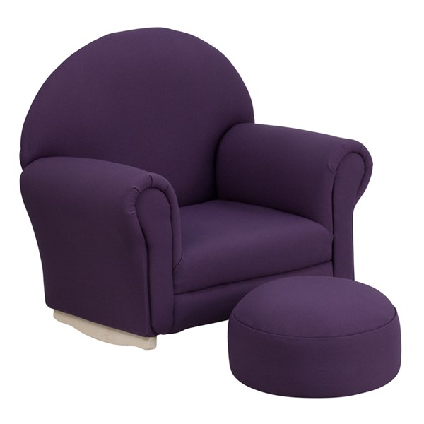 Kids Purple Fabric Rocker Chair and Footrest FLF-SF-03-OTTO-PUR-GG