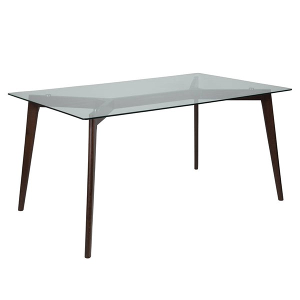 Flash Furniture Parkside Clear Espresso Table FLF-SK-TC-5049-E-GG