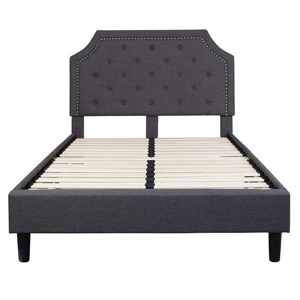 Flash Furniture Brighton Dark Gray Full Platform Bed FLF-SL-BK4-F-DG-GG