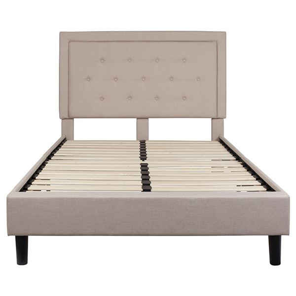 Flash Furniture Roxbury Beige Full Platform Bed FLF-SL-BK5-F-B-GG
