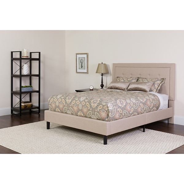 Flash Furniture Roxbury Beige King Platform Bed FLF-SL-BK5-K-B-GG