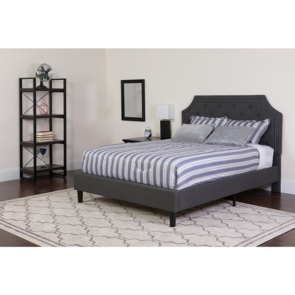 Flash Furniture Brighton Dark Gray Twin Platform Bed Set FLF-SL-BM-13-GG