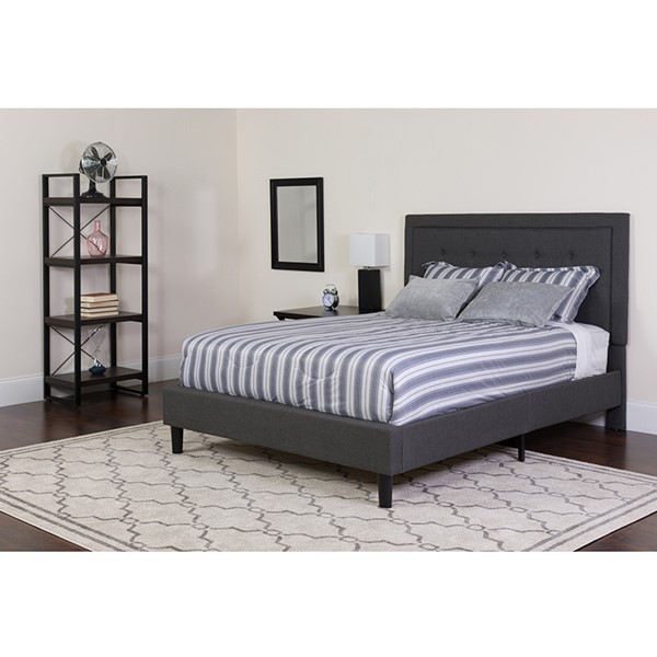 Flash Furniture Roxbury Dark Gray Queen Platform Bed Set FLF-SL-BM-31-GG