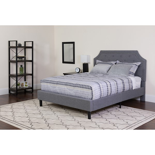 Flash Furniture Brighton Light Gray Twin Platform Bed Set FLF-SL-BM-9-GG