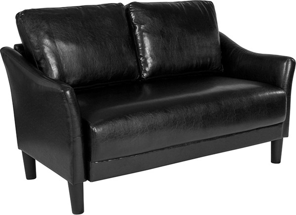 Flash Furniture Asti Black Leather Loveseat FLF-SL-SF915-2-BLK-GG