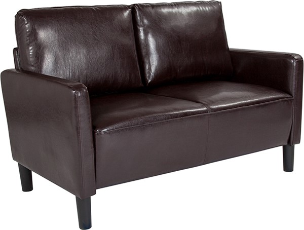 Flash Furniture Washington Park Brown Leather Loveseat FLF-SL-SF918-2-BRN-GG