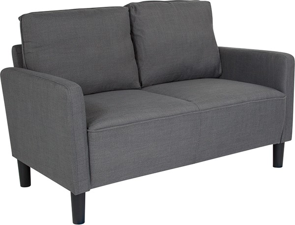 Flash Furniture Washington Park Dark Gray Fabric Loveseat FLF-SL-SF918-2-DGY-F-GG
