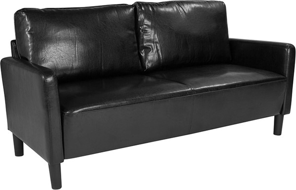 Flash Furniture Washington Park Black Leather Sofa FLF-SL-SF918-3-BLK-GG