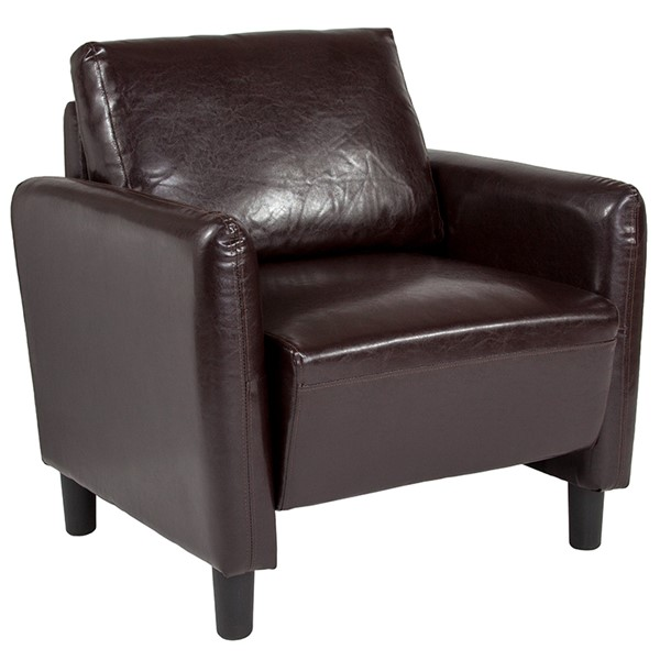 Flash Furniture Candler Park Brown Leather Chair FLF-SL-SF919-1-BRN-GG