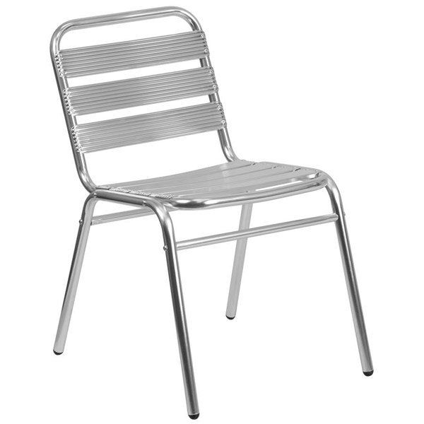 Flash Furniture Indoor Outdoor Restaurant Stack Chair with Triple Slat Back FLF-TLH-015-GG