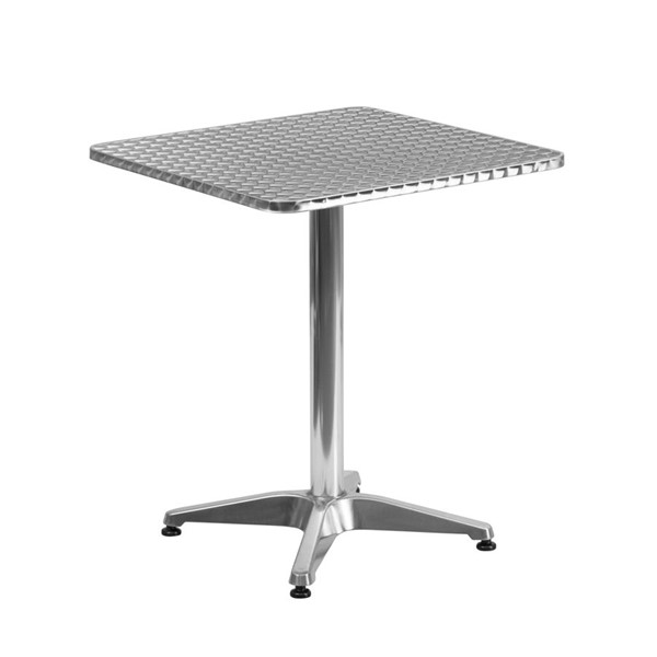Flash Furniture 23.5 Inch Square Indoor Outdoor Table with Base FLF-TLH-053-1-GG