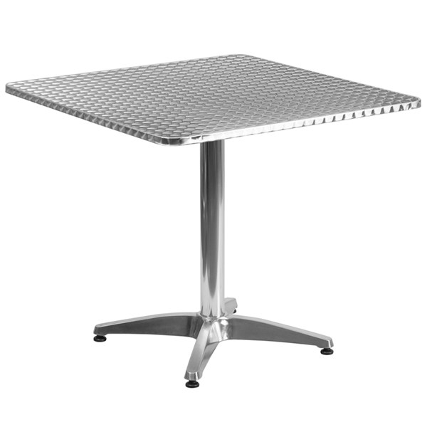 31.5 Inch Square Aluminum Indoor-Outdoor Table With Base FLF-TLH-053-3-GG
