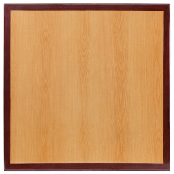 Flash Furniture 24 Inch Square Two-Tone Resin Cherry and Mahogany Table Top FLF-TP-2TONE-2424-GG