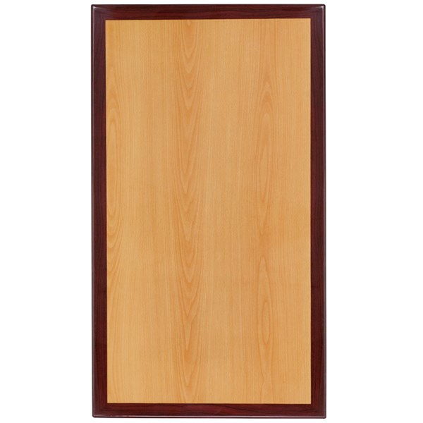 Flash Furniture 30 X 42 Rectangular Two-Tone Resin Cherry and Mahogany Table Top FLF-TP-2TONE-3042-GG